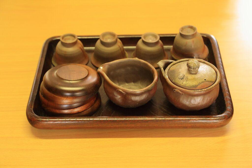 備前焼の茶器セット