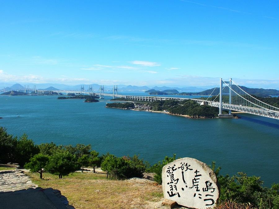 瀬戸大橋と瀬戸内海の風景